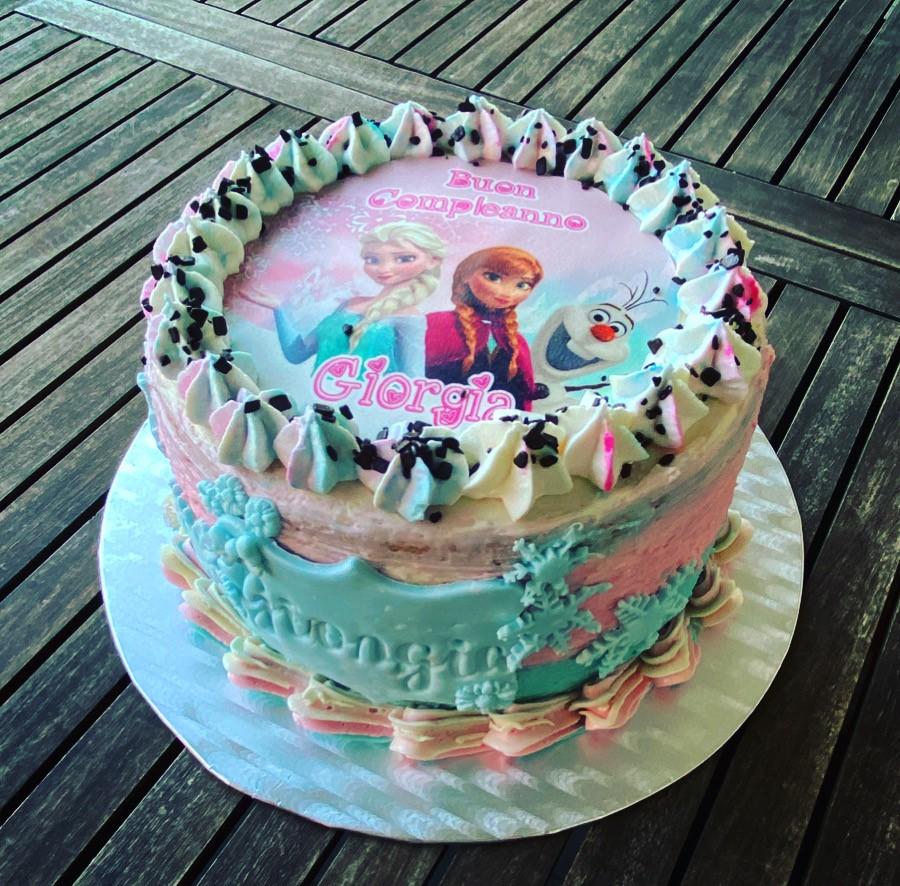 Cake deisign - tema Fronzen torta di compleanno bimba