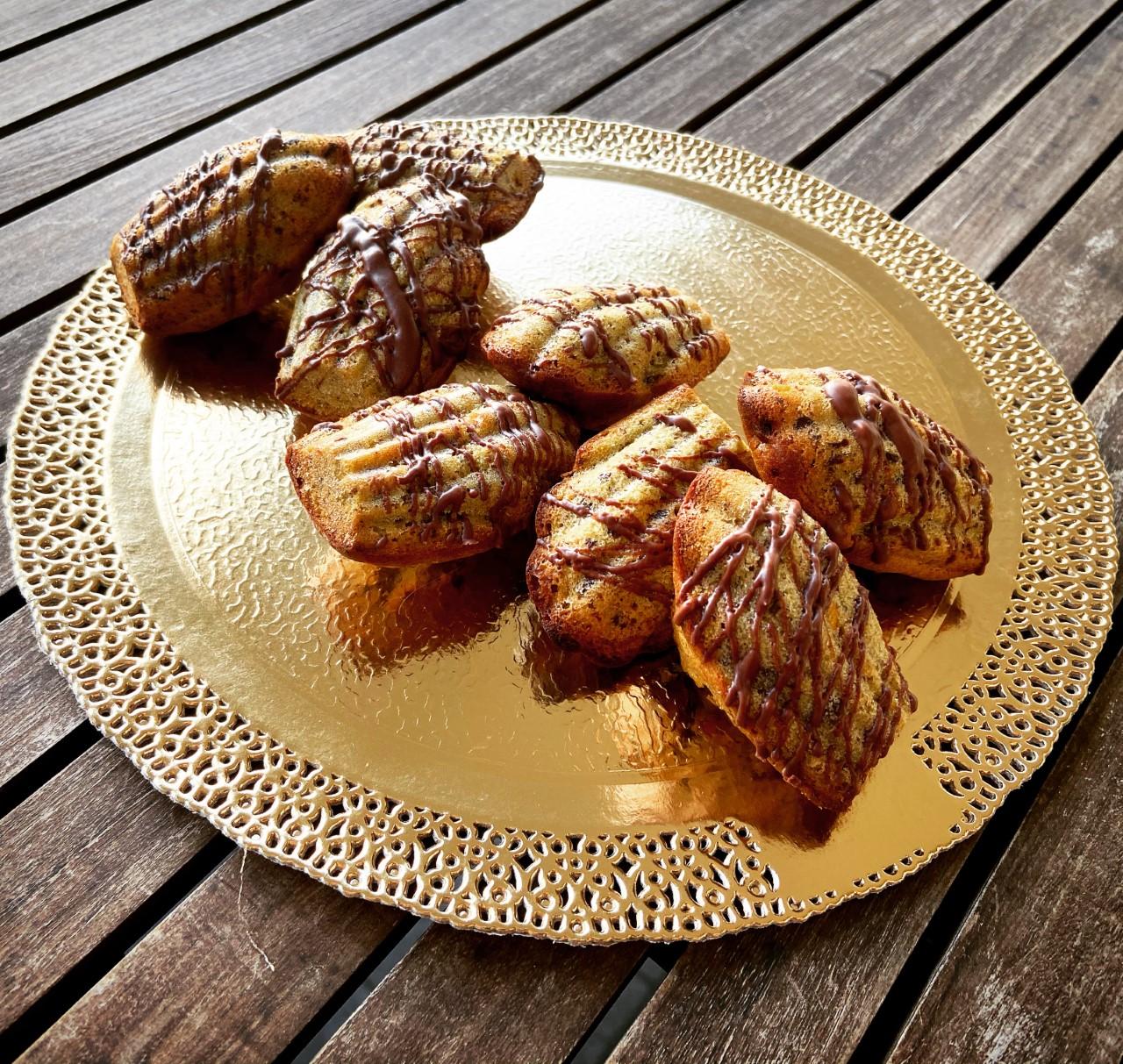Madeleines pistacchio e cioccolato