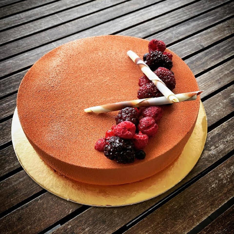 Torta moderna Ciccolato & Lamponi