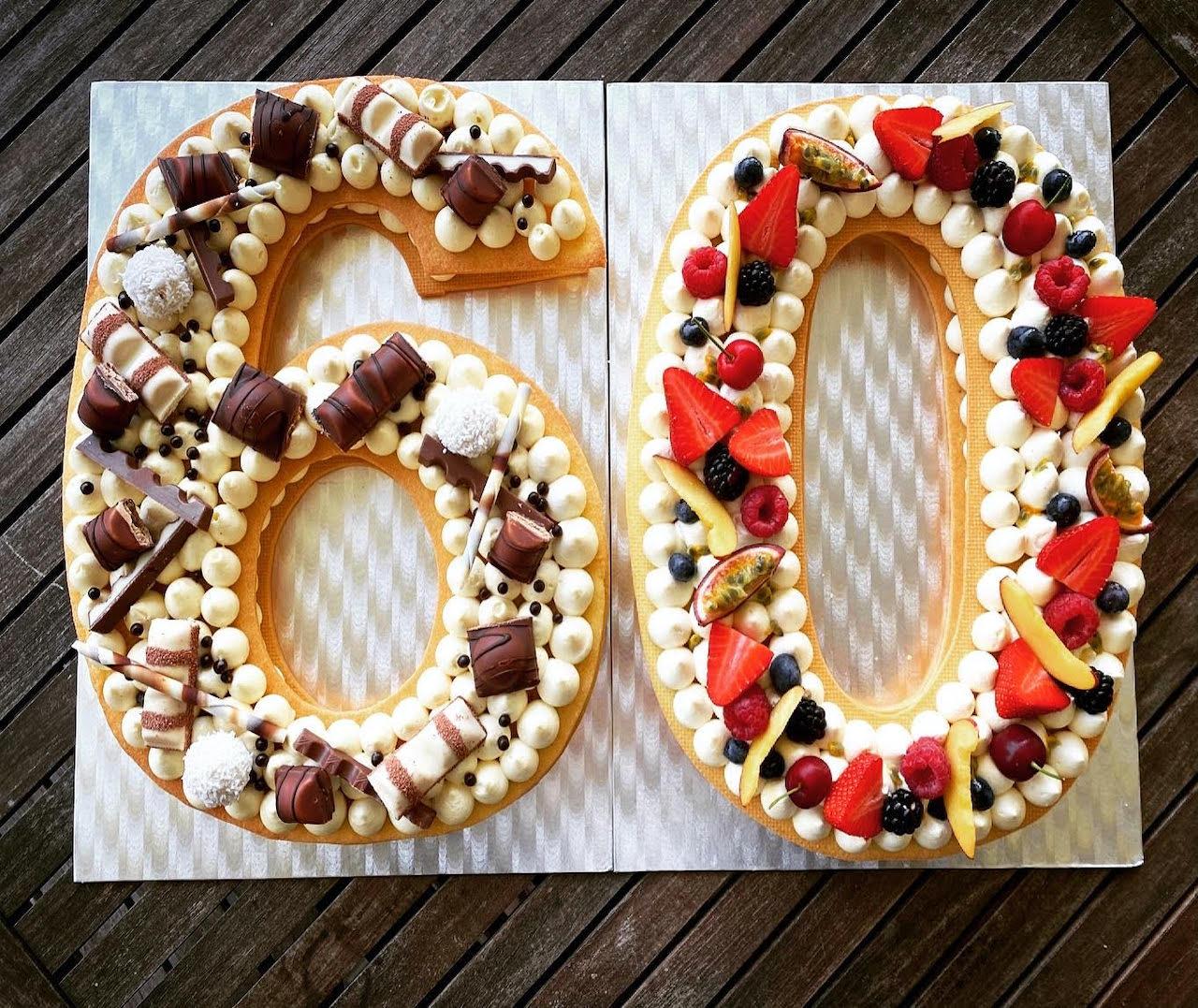 Cream tart compleanno 60 anni