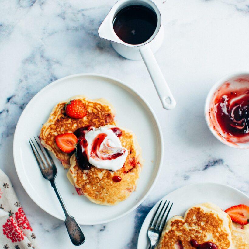Colazione - Pancake alle fragole