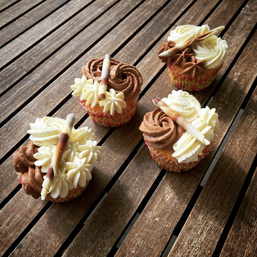 Cupcake Cioccolato Bianco e Fondente